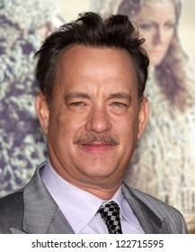 "LOS ANGELES - OCT 24:  Tom Hanks arriving to ""Cloud Atlas"" Los Angeles Premiere  on October 24, 2012 in Hollywood, CA"