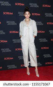 LOS ANGELES - OCT 24: Zendaya at The Estate of Michael Jackson and Sony Music present Michael Jackson Scream Halloween Takeover at TCL Chinese Theatre IMAX on October 24, 2017 in Los Angeles, CA