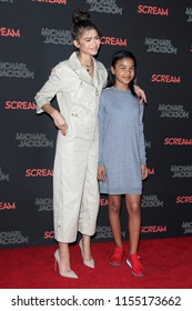 LOS ANGELES - OCT 24: Zendaya,  Kaylee Stoermer Coleman at Michael Jackson Scream Halloween Takeover at TCL Chinese Theatre IMAX on October 24, 2017 in Los Angeles, California