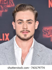 "LOS ANGELES - OCT 26:  Dacre Montgomery arrives for the ""Stranger Things 2"" Los Angeles Premiere on October 26, 2017 in Westwood, CA"