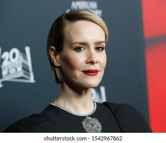 """LOS ANGELES - OCT 26:  Sarah Paulson at the """"American Horror Story"""" 100th Episode Celebration at the Hollywood Forever Cemetary on October 26, 2019 in Los Angeles, CA"""
