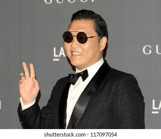 LOS ANGELES - OCT 27:  Psy arrives at the LACMA 2012 Art + Film Gala at Los Angeles County Musem of Art on October 27, 2012 in Los Angeles, CA
