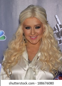 "LOS ANGELES - OCT 28:  Christina Aguilera arrives to the ""Yhe Voice"" Season 2 Press Conference  on October 28, 2011 in Sony Studios, CA"