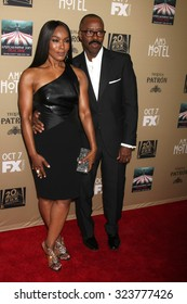 """LOS ANGELES - OCT 3:  Angela Bassett, Courtney B Vance at the """"American Horror Story: Hotel"""" Premiere Screening at the Regal 14 Theaters on October 3, 2015 in Los Angeles, CA"""