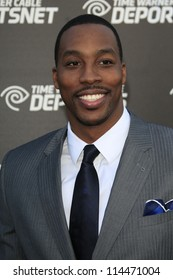 LOS ANGELES - OCT 30:  Dwight Howard arrives at the Time Warner Sports Launch of TWC Sportsnet at TWC Sports Studios on October 30, 2012 in El Segundo, CA