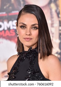 "LOS ANGELES - OCT 30:  Mila Kunis arrives for the ""A Bad Moms Christmas"" Los Angeles Premiere on October 30, 2017 in Westwood, CA"