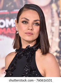 """LOS ANGELES - OCT 30:  Mila Kunis arrives for the """"A Bad Moms Christmas"""" Los Angeles Premiere on October 30, 2017 in Westwood, CA"""