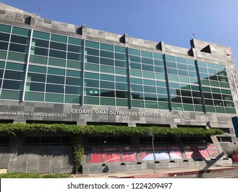 LOS ANGELES, Oct 30th, 2018: Exterior of the Cedars Sinai Saul and Joyce Brandman Breast Center Women's Cancer Research Institute and Outpatient Services building on San Vicente Blvd in West Hollywood