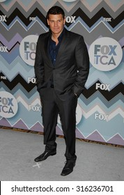LOS ANGELES - OCT 4:  David Boreanaz arrives at the 2013 FOX Winter TCA All Star Party  on January 8, 2013 in Pasadena, CA
