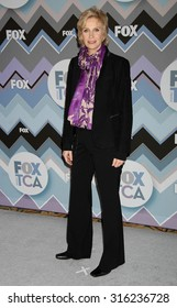 LOS ANGELES - OCT 4:  Jane Lynch arrives at the 2013 FOX Winter TCA All Star Party  on January 8, 2013 in Pasadena, CA