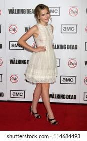 "LOS ANGELES - OCT 4:  Kiernan Shipka arrives at ""The Walking Dead"" 3rd Season Premiere Screening at Universal Citywalk on October 4, 2012 in Los Angeles, CA"
