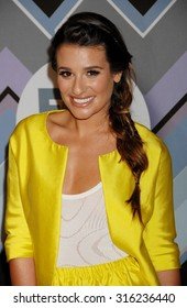 LOS ANGELES - OCT 4:  Lea Michele arrives at the 2013 FOX Winter TCA All Star Party  on January 8, 2013 in Pasadena, CA