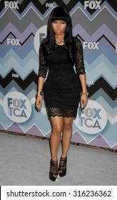 LOS ANGELES - OCT 4:  Nicki Minaj arrives at the 2013 FOX Winter TCA All Star Party  on January 8, 2013 in Pasadena, CA
