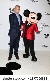 LOS ANGELES - OCT 6:  Bob Iger, Mickey Mouse at the Mickey's 90th Spectacular Taping at the Shrine Auditorium on October 6, 2018 in Los Angeles, CA