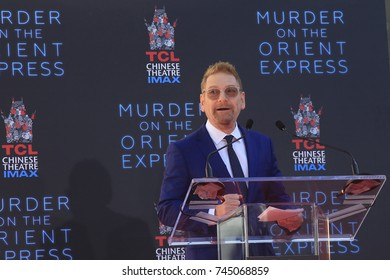 LOS ANGELES - OCT 6:  Kenneth Branagh speaks at the ceremony honoring Kenneth Branagh with hand and foot prints at the TCL Chinese Theater IMAX on October 6, 2017 in Los Angeles, CA
