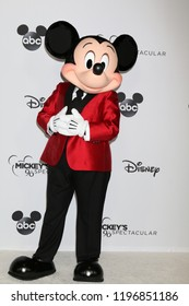 LOS ANGELES - OCT 6:  Mickey Mouse at the Mickey's 90th Spectacular Taping at the Shrine Auditorium on October 6, 2018 in Los Angeles, CA