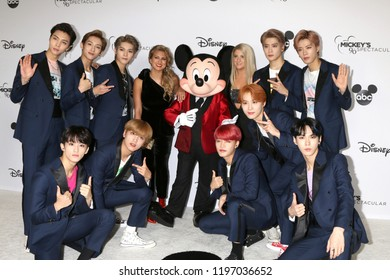 LOS ANGELES - OCT 6:  NCT 127, Tori Kelly, Mickey Mouse, Meghan Trainor at the Mickey's 90th Spectacular Taping at the Shrine Auditorium on October 6, 2018 in Los Angeles, CA