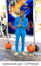 """LOS ANGELES - OCT 7:  Caleel Harris at the """"Goosebumps 2: Haunted Halloween"""" Special Screening  at the Sony Pictures Studios on October 7, 2018 in Culver City, CA"""