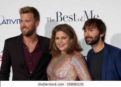 "LOS ANGELES - OCT 7:  Charles Kelley, Hillary Scott, Dave Haywood, Lady Antebellum at the ""The Best of Me"" LA Premiere at Regal 14 Theaters on October 7, 2014 in Los Angeles, CA"