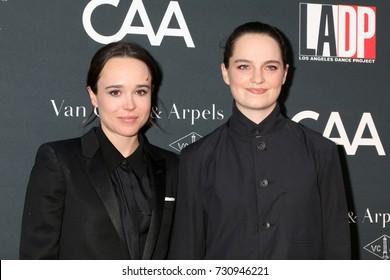LOS ANGELES - OCT 7:  Ellen Page, Emma Portner at the 2017 Los Angeles Dance Project Gala at the LA Dance Project on October 7, 2017 in Los Angeles, CA