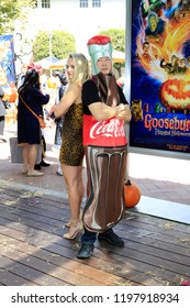 """LOS ANGELES - OCT 7:  Madison Iseman, Ken Jeong at the """"Goosebumps 2: Haunted Halloween"""" Special Screening  at the Sony Pictures Studios on October 7, 2018 in Culver City, CA"""