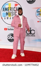 LOS ANGELES - OCT 9:  Khalid at the 2018 American Music Awards at the Microsoft Theater on October 9, 2018 in Los Angeles, CA