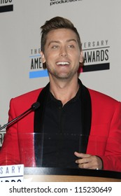 LOS ANGELES - OCT 9: Lance Bass at the 40th Anniversary American Music Awards nominations press conference at the JW Marriott Los Angeles at L.A. LIVE on October 9, 2012 in Los Angeles, California