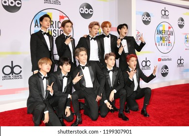 LOS ANGELES - OCT 9:  NCT 127 at the 2018 American Music Awards at the Microsoft Theater on October 9, 2018 in Los Angeles, CA