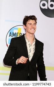 LOS ANGELES - OCT 9:  Shawn Mendes at the 2018 American Music Awards at the Microsoft Theater on October 9, 2018 in Los Angeles, CA