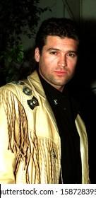 Los Angeles - October 11, 1993: Singer Billy Ray Cyrus leaves Spago restaurant.