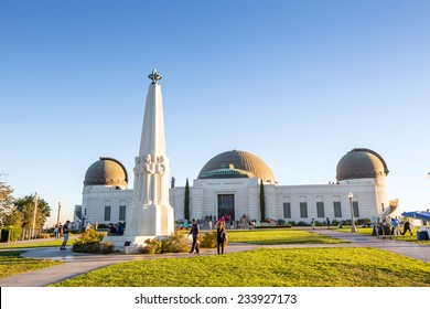 LOS ANGELES - OCTOBER 25: Griffith Observatory on October 25, 2014 It is a facility in Los Angeles, California sitting on the south-facing slope of Mount Hollywood in Los Angeles