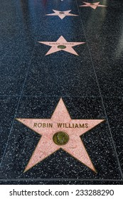 LOS ANGELES - OCTOBER 25: Hollywood Walk of Fame on October 25, 2014 in Hollywood, California. This star is located on Hollywood Blvd. and is one of 2400 celebrity stars.