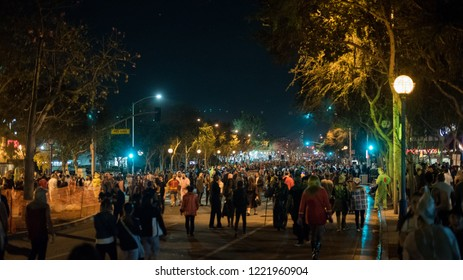 LOS ANGELES - OCTOBER 31: Halloween Parade in West Hollywood. October 31, 2018 in Los Angeles, CA