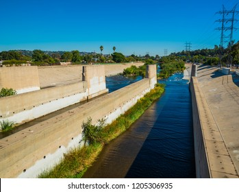 Los Angeles River, Between Colorado Street and Los Feliz Boulevard at the Great Heron Gate, the Griffith Park area. The  Habitat and Ecosystem Restoration area.