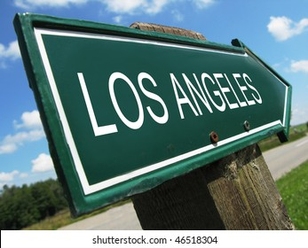LOS ANGELES road sign