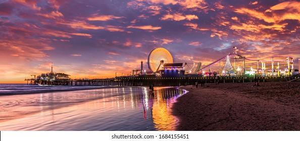 Los Angeles at Santa Monica pier