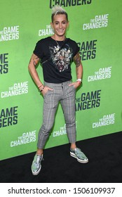 LOS ANGELES - SEP 04:  Frankie Grande arrives for 'The Game Changers' Los Angeles Premiere on September 04, 2019 in Hollywood, CA