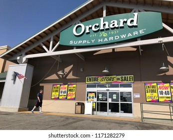 LOS ANGELES, Sep 1, 2018: The entrance to an OSH Orchard Supply Hardware store in West LA is surrounded with liquidation sale signs. The chain is set to close for good on October 20th.