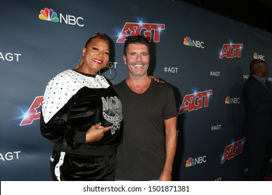 "LOS ANGELES - SEP 10:  Queen Latifah, Simon Cowell at the ""America's Got Talent"" Season 14 Live Show Red Carpet at the Dolby Theater on September 10, 2019 in Los Angeles, CA"