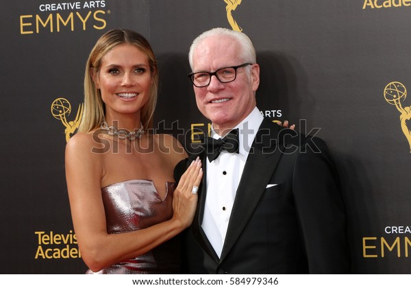 LOS ANGELES - SEP 11:  Heidi Klum, Tim Gunn at the 2016 Primetime Creative Emmy Awards - Day 2 - Arrivals at the Microsoft Theater on September 11, 2016 in Los Angeles, CA