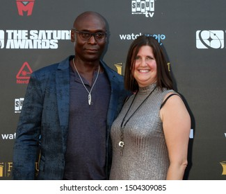 LOS ANGELES - SEP 13:  Lance Reddick, Stephanie Day at the 2019 Saturn Awards at the Avalon Hollywood on September 13, 2019 in Los Angeles, CA