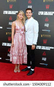 LOS ANGELES - SEP 13:  Melissa Benoist, Chris Wood at the 2019 Saturn Awards at the Avalon Hollywood on September 13, 2019 in Los Angeles, CA