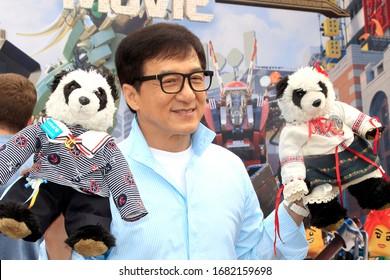 """LOS ANGELES - SEP 14:  Jackie Chan at the """"Ninjago"""" Photocall at Legoland on September 14, 2017 in Carlsbad, CA"""