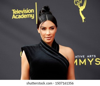 LOS ANGELES - SEP 14:  Kim Kardashian West at the 2019 Primetime Emmy Creative Arts Awards at the Microsoft Theater on September 14, 2019 in Los Angeles, CA