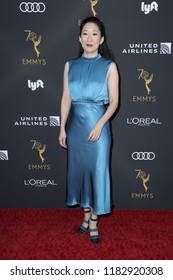 LOS ANGELES - SEP 15:  Sandra Oh at the Television Academy Honors Emmy Nominated Performers at the Wallis Annenberg Center for the Performing Arts on September 15, 2018 in Beverly Hills, CA