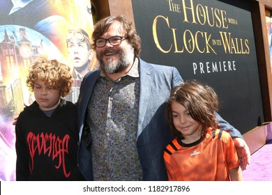 "LOS ANGELES - SEP 16:  Samuel Black, Jack Black, Samuel Black at the ""The House With a Clock in Its Walls"" LA Premiere at the TCL Chinese Theater IMAX on September 16, 2018 in Los Angeles, CA"