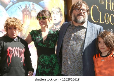 "LOS ANGELES - SEP 16:  Samuel Black, Tanya Haden, Jack Black, Samuel Black at the ""The House With a Clock in Its Walls"" LA Premiere at the TCL Chinese Theater on September 16, 2018 in Los Angeles, CA"