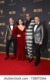 LOS ANGELES - SEP 17:  Carson Kressley, Michelle Visage, RuPaul, Ross Matthews at the 69th Primetime Emmy Awards - Arrivals at the Microsoft Theater on September 17, 2017 in Los Angeles, CA