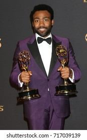 LOS ANGELES - SEP 17:  Donald Glover at the 69th Primetime Emmy Awards - Press Room at the JW Marriott Gold Ballroom on September 17, 2017 in Los Angeles, CA