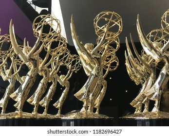 LOS ANGELES - SEP 17: Emmy statues at the 70th Primetime Emmy Awards held at Microsoft Theater, L.A. Live on September 17, 2018 in Los Angeles, California